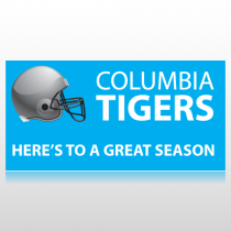 Football Helmet School Banner