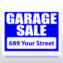 Garage Sale Sign With White Knockout Sign Panel