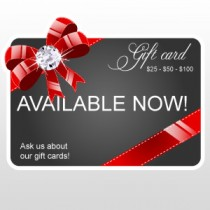 "Gift Cards Available 5""H x 6""W"