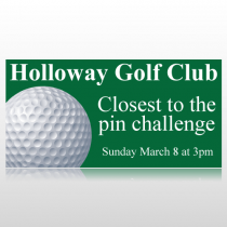 Golf Club Closest To The Pin Banner