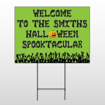 Halloween 12 Wire Frame Sign