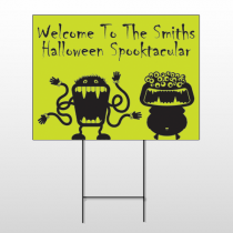 Halloween 7 Wire Frame Sign