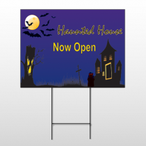 Haunted House Wire Frame Sign