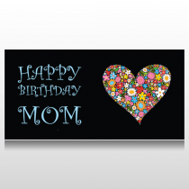 Flower Heart Birthday Banner