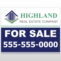 For Sale Blue House 133 Custom Sign