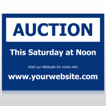 Auction 51 Custom Sign