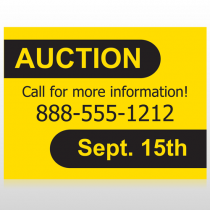 Auction 52 Custom Sign