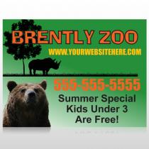Bear Zoo 302 Custom Sign