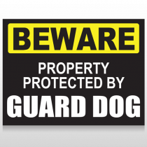 Beware Guard Dog 93 Custom Sign