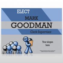 Blue Clerk 282 Custom Sign