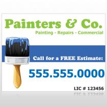 Blue Paint Brush 305 Site Sign