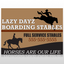 Boarding Stables 304 Site Sign