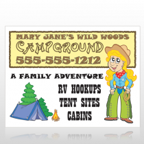 Campground 144 Custom Sign