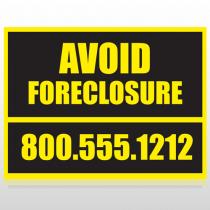 Foreclosure 12 Custom Sign