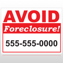 Foreclosure 119 Custom Sign