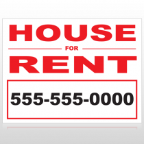 For Rent 139 Custom Sign