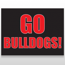 Go Bulldogs 75 Custom Sign