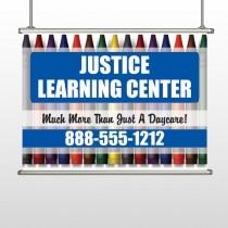 Crayons 184 Hanging Banner