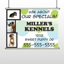 Dog kennels 300 Hanging Banner
