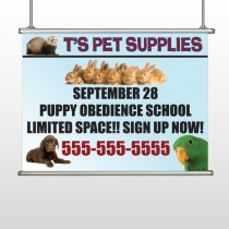Pet Supplies 305 Hanging Banner