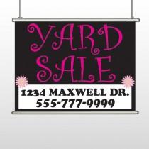 Pink Yard Sale 550  Hanging Banner