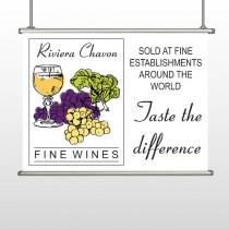 Wine 145 Hanging Banner