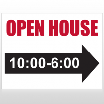 Open House 17 Custom Sign