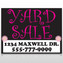 Pink Yard Sale 550 Custom Decal