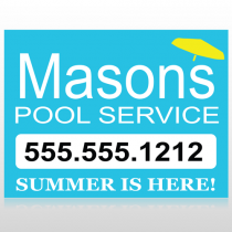 Pool Service 85 Custom Sign