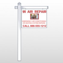 "AC Repair 251 18""H x 24""W Swing Arm Sign"