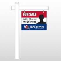 "Agent Photo 10 18""H x 24""W Swing Arm Sign"