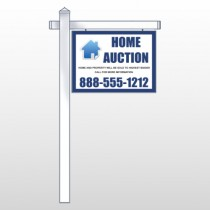 "Blue House Auction 253 18""H x 24W Site Sign"
