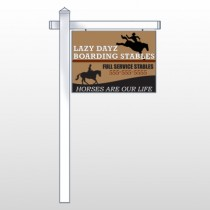 """Borading Stables 304 18""""H x 24""""W Swing Arm Sign"""