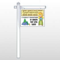 """Campground 144 18""""H x 24""""W Swing Arm Sign"""