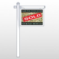 "Cash Sold 250 18""H x 24""W Swing Arm Sign"