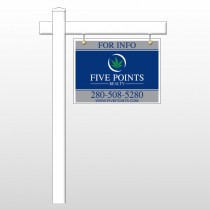 "Five Points 15 18""H x 24""W Swing Arm Sign"