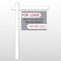 "For Lease 40 18""H x 24""W Swing Arm Sign"