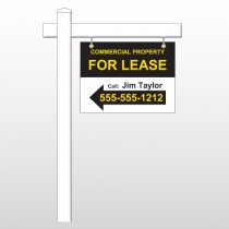 "For Lease 42 18""H x 24""W Swing Arm Sign"