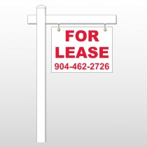 """For Lease 9 18""""H x 24""""W Swing Arm Sign"""