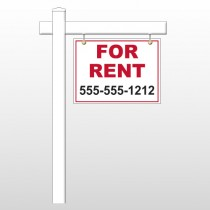 """For Rent 44 18""""H x 24""""W Swing Arm Sign"""