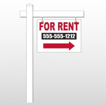 "For Rent 46 18""H x 24""W Swing Arm Sign"