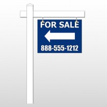 "For Sale 25 18""H x 24""W Swing Arm Sign"