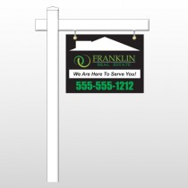 "Franklin 35 18""H x 24""W Swing Arm Sign"