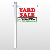"House In Grass 548 18""H x 24""W Swing Arm Sign"