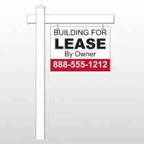 """Lease 1 18""""H x 24""""W Swing Arm Sign"""