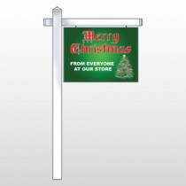 """Merry Christmas 29 18""""H x 24""""W Swing Arm Sign"""