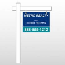 "Metro 36 18""H x 24""W Swing Arm Sign"
