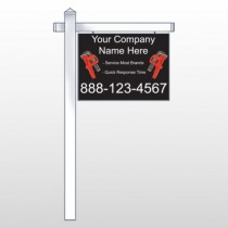 "Monkey Wrench 257 18""H x 24""W Swing Arm Sign"