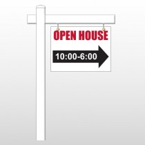 "Open House 17 18""H x 24""W Swing Arm Sign"