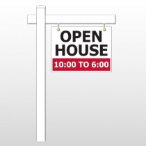 """Open House 21 18""""H x 24""""W Swing Arm Sign"""